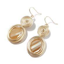 MANILAI Handmade Big Champagne Crystal Earrings For Women Fashion Gold Color Wire Helical Dangle Bohemia Jewelry