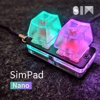 Simpad nano osu mini teclado de toque roda eixo testador jogo teclado osu suporte interruptor vermelho teclado mecânico do jogo