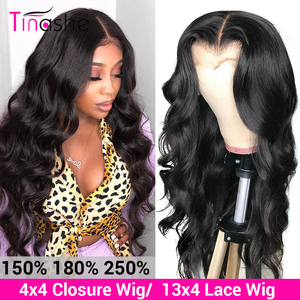 Tinashe Body Wave Wig Lace Front Human Hair Wigs 180 200 250 Density Brazilian Lace Frontal Wig Pre Plucked 4x4 Lace Closure Wig(China)