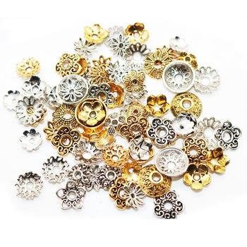 Διάφορα Κοσμήματα Λουλουδένια Τύπου Θιβέτ Αντικέ DIY Συσκευασία 50 Η 100 Τεμάχια DIY Χόμπι MSOW