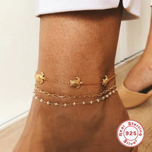 Aide милые кисточкой ножной браслет 925 ножные браслеты из стерлингового