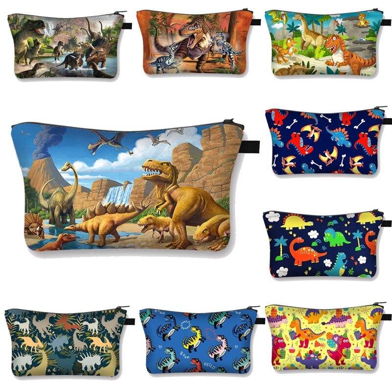 3D Waterproof Cosmetic Bag Makeup Case Printing Dinosaur Cosmetic Bag Women Multifunction Beauty Bag  Organizer Storage Bag
