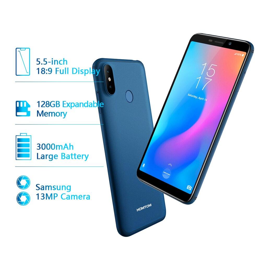 Version mondiale HOMTOM C2 Android 8.1 2GB + 16GB téléphone portable Face ID MTK6739 Quad Core 13MP double caméra OTA 4G FDD LTE Smartphone - 2