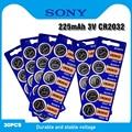 30 шт., Литиевые кнопочные батарейки для Sony 3 в CR2032, BR2032 DL2032 ECR2032 CR 2032