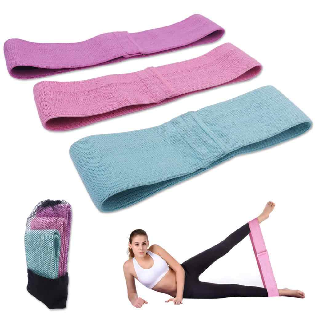 """Non-Slip Heavy Resistance Bands 15/"""" Hip Exercise Band Set Booty /& Glute Fitness"""
