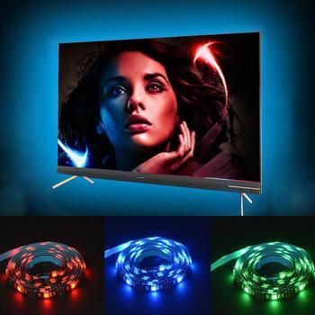 LED strip lights for TV backlight 5V USB lights for PC 1M 2M 3M SMD5050RGB Waterproof Color changing night lights + controller