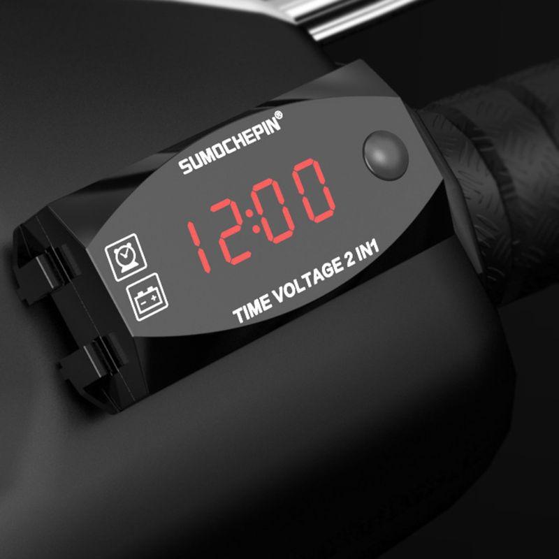 DC 12V LED affichage numérique voltmètre panneau de tension compteur pour électromobile moto voiture M68B