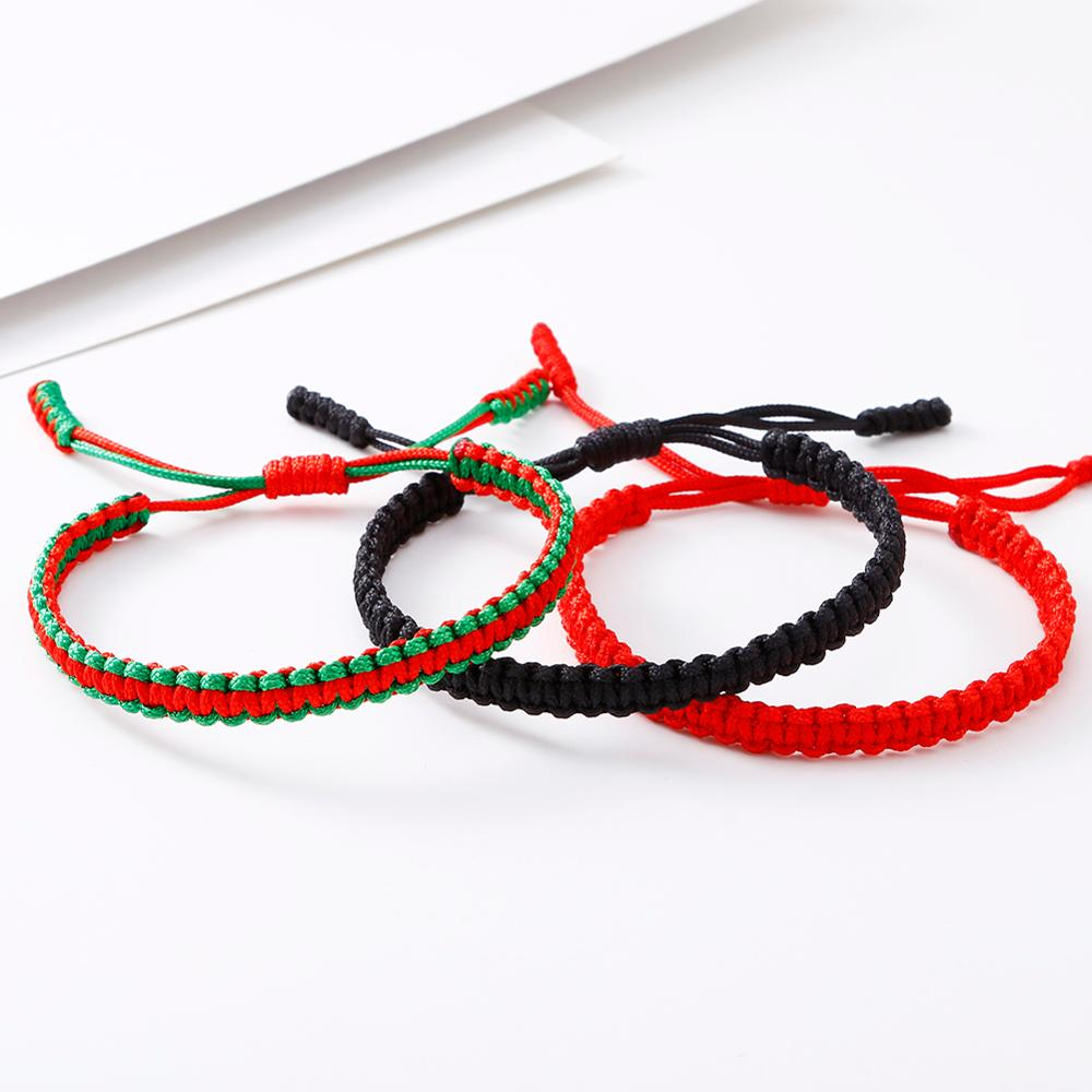 Good Lucky Thread Braided Bracelet for Men Women Handwoven Red Rope Tibetan Buddhist Handmade Bracelets & Bangles Charm Jewelry