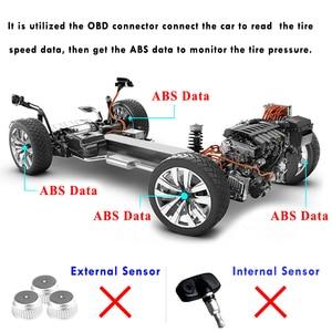 Image 3 - Pour Mitsubishi Outlander 3 2018 Eclipse Cross 2017 voiture OBD TPMS 4 systèmes de surveillance de la pression des pneus alarme de sécurité des pneus pas de capteur