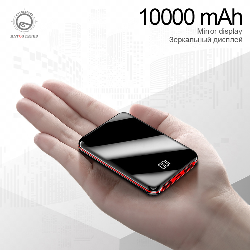 10000mAh Power Bank External Battery Bank 8W Quick Charge Powerbank Portable Charger With Dual USB Output For Phone