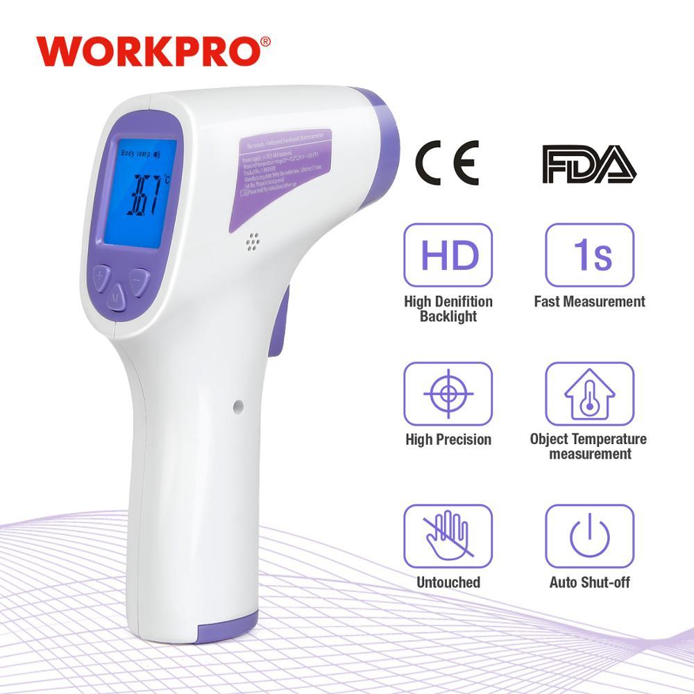 WORKPRO cyfrowy termometr bezdotykowy termometr na podczerwień temperatura cyfrowe narzędzie pomiarowe dla środowiska