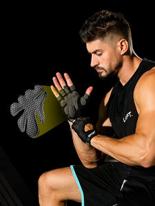 Accessorie Gym-Gloves Dumbbell Weightlifting-Workout Crossfit Bodybuilding Silicone Palm-Hollow-Back