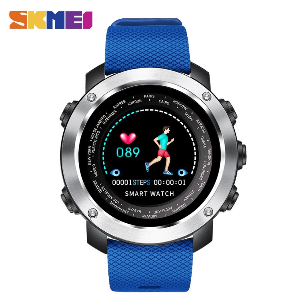 SKMEI 3D UI hommes montre numérique moniteur de fréquence cardiaque chronographe Sport montres étanche homme montre-bracelet Relogio Masculino W30