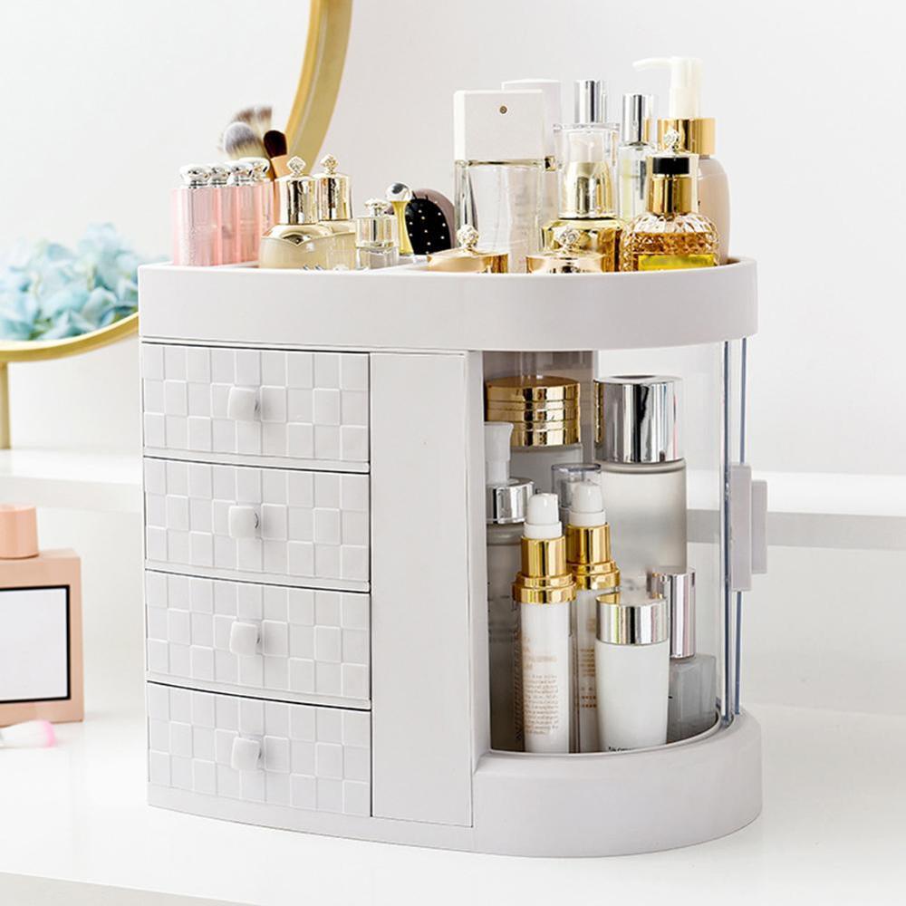 Large Capacity Cosmetic Storage Box 4 Drawer Desktop Makeup Organizer Lipstick Perfume Emulsion Makeup Holder Storage Box Case
