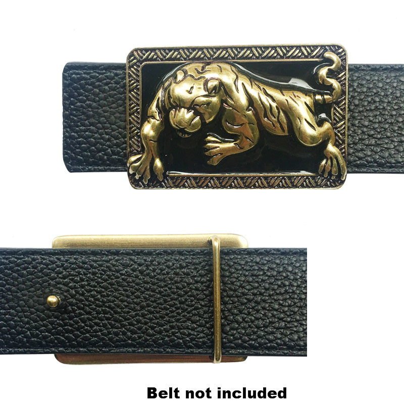 Western Cowboy Luxury Animal Leopard Icon Belt Buckle For Men  Metal Accessories For Man Hebillas Para Cinturon Hombre
