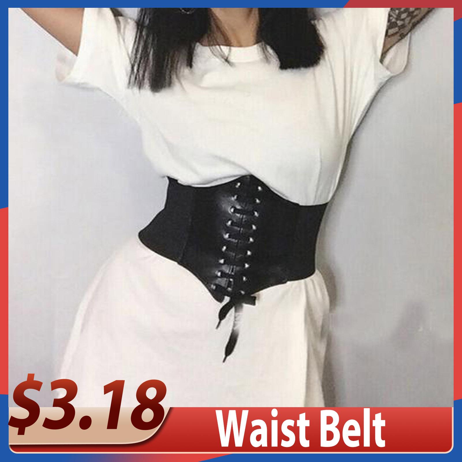 MISS M Women Ultra Super Wide Belt PU Elastic Corset Belt Fashion Wide Waist Belt Ladies Clothing Accesoories Female Decorations