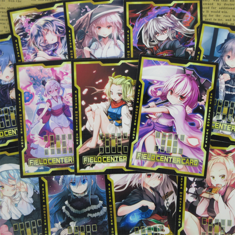 16pcs/set Yugioh Ghost Girls Half-frosted Field Center Cards Red Blossoms Ghost Sisters Alter-art Lolita Hand Trap Common Orica