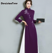 2019 vietnam aodai chinese traditional dress qipao long cheongsam chinoise modern