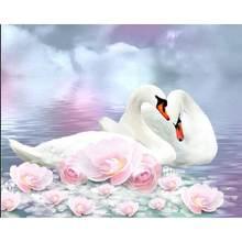 Gatyztory рамка Лебедь diy живопись по номерам животные ручная