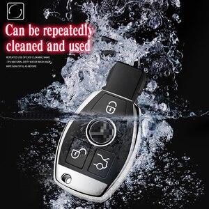 Image 4 - Quàng Nam chất lượng PC + TPU chìa khóa bao da Chìa Khóa Vỏ bảo vệ giá đỡ cho Xe Mercedes Benz MỘT B R G lớp GLK GLA E200 E200L W176