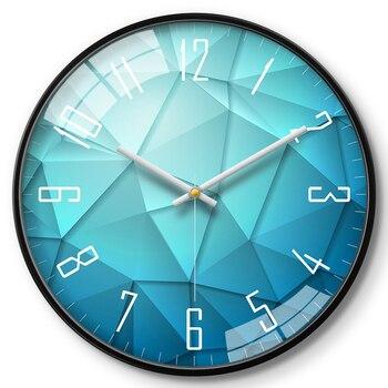 Reloj de pared grande de Metal moderno para sala de estar, reloj...