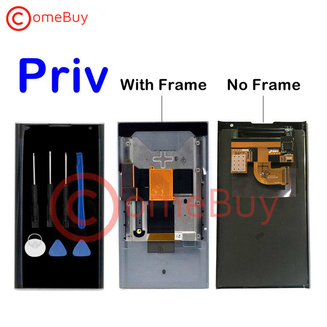 """For BlackBerry Priv LCD Display Touch Screen Digitizer Panel Assembly With Frame+Slider Flex Cable For 5.4"""" Blackberry Priv LCD"""