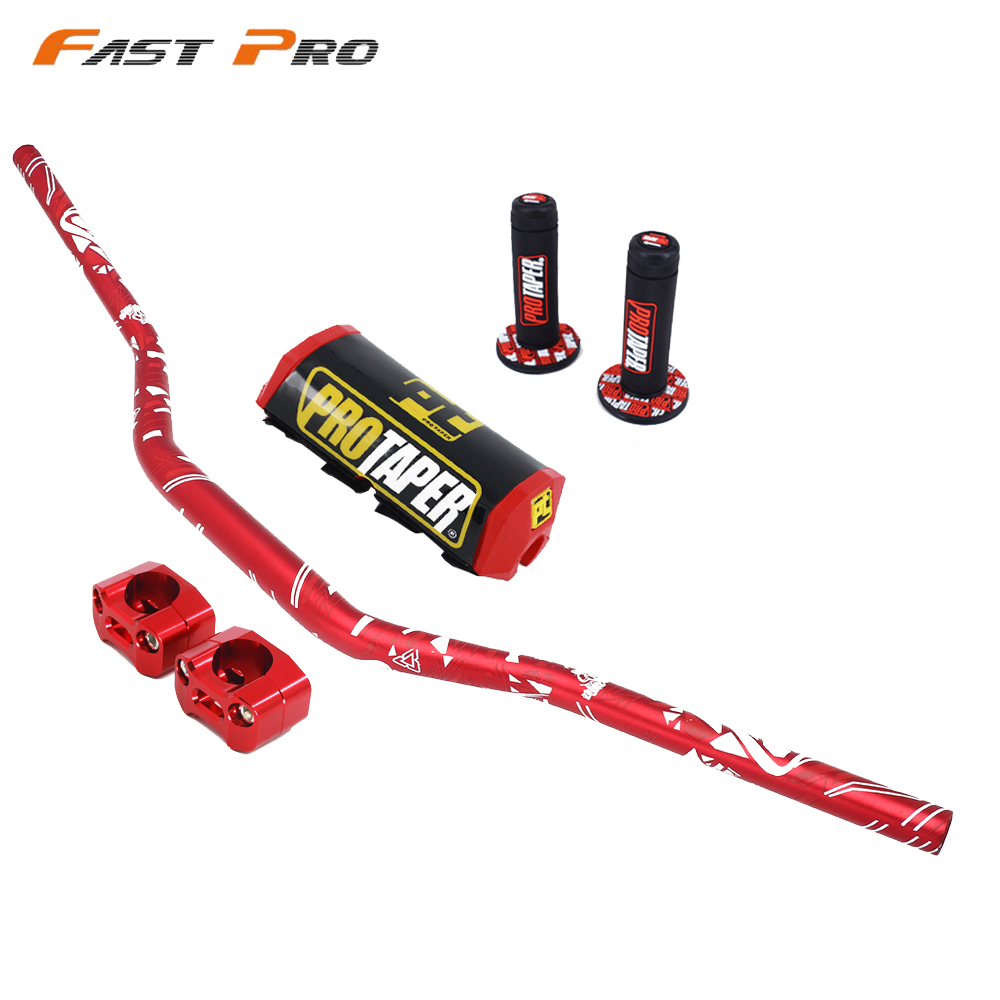 Motorcycle 28mm Handlebar With Handle Grip Fat Bar Dirt Bike Motorcross For PRO YAMAHA YZ YZF WR WRF TTR 125 250 400 450 426 CRF