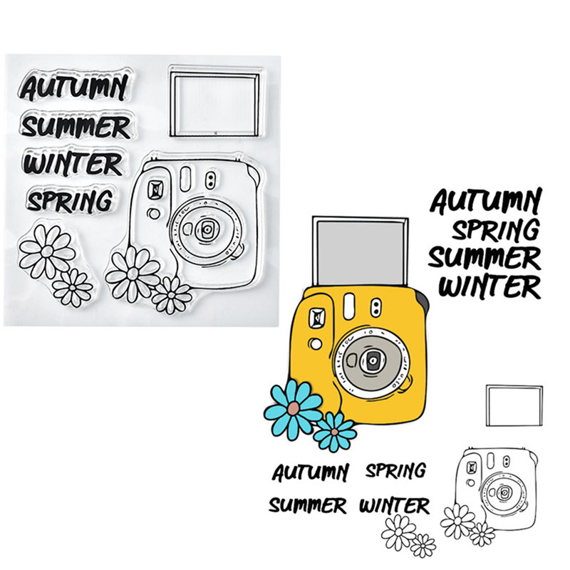 DiyArts Christmas Stamps Word Clear Stamps for Scrapbooking Camera Rubber Stamps for Card Making New 2019