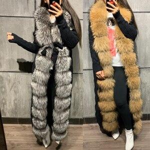 Image 3 - Pelz pullover fuchs pelz pullover lange 120 125cm länge fuchs pelz strickjacke