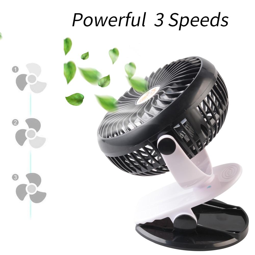 New 360° Cooling Mini Fan Portable Ultra quiet USB Fan 3 Speed Adjustable Mini Fan Outdoor Home Office in Portable Spotlights from Lights Lighting