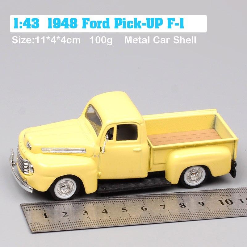 1:43 échelle mini classique rétro 1948 Ford pick-up F-1 F1 camionnettes moulé sous pression et véhicules voitures miniatures modèle enfants jouets garçon cadeaux