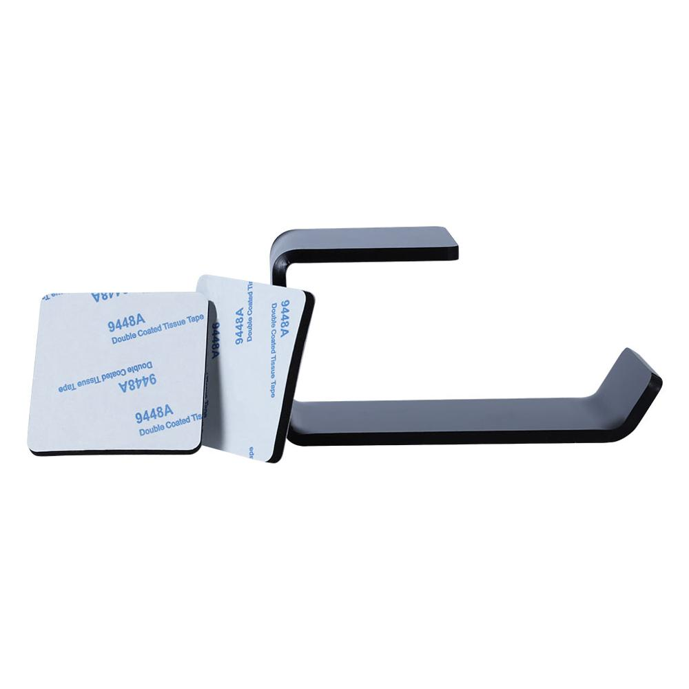 Sticker Acrylic Headphone Bracket Wall Mounted Headset Holder   Hanger Under Desk Hook Earphone Sticky Display Stand 2