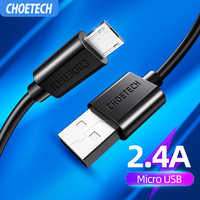 CHOETECH Micro USB Cord Fast Charging Cord For Xiaomi Redmi Note 5 Redmi 7 Samsung S7 S6 J7 A5 A7 huawei P9 P10 Mate 10 Lite