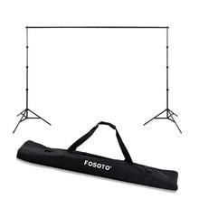 Fosoto 2.6*3m Photo Studio fond cadre photographie Photo pliant trépied support décors cadres avec sac pour séance Photo