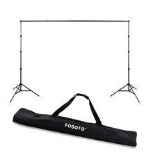 Fosoto 2.6*3m استوديو الصور خلفية إطار التصوير صور للطي الخلفيات إطارات مع حقيبة حامل ثلاثي القوائم لالتقاط الصور wq14