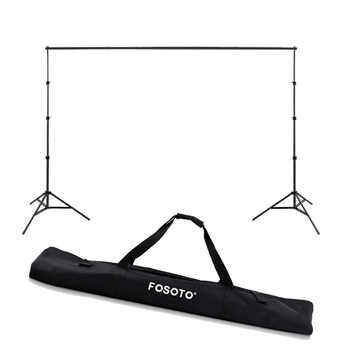 fosoto  2.6*3m Photo Studio Background Frame Folding Tripod Stand Backdrops Frames For Video Studio Photographic Accessories&Bag - DISCOUNT ITEM  34% OFF All Category