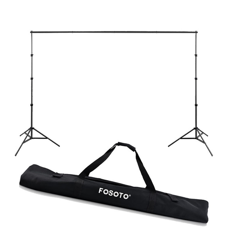 fosoto 2.6*3m Photo Studio Background Frame Folding Tripod Stand Backdrops Frames For Video Studio Photographic Accessories&Bag