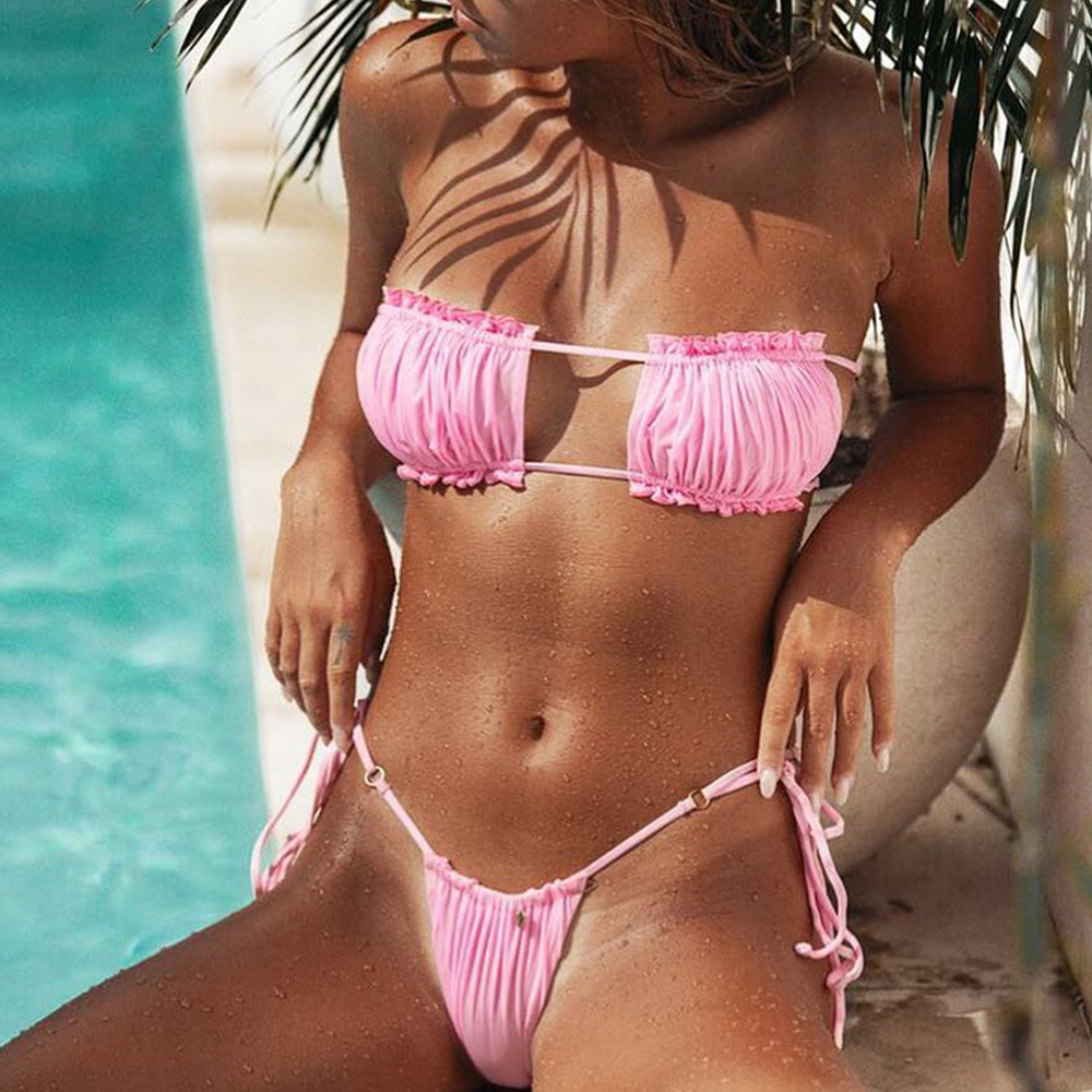 OMKAGI Bandeau Bikini 2021 mikrobikiinid, bikiinid, 11 erinevat mustri ja värvivalikut 3