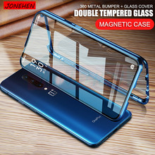 360 Full Protective Magnetic Metal Bumper Double Tempered Glass Case Fo