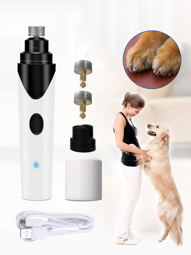 Grooming-Trimmer-Tools Nail-Clippers Pet Dog Cat-Paws Electric Rechargeable Quiet Painless