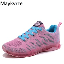 2020 new women Flying woven sneakers mesh casual flats wild running shoes new flying woven mesh breathable women s shoes casual wild lace mesh women s sneakers shoes fashion lightweight casual shoes