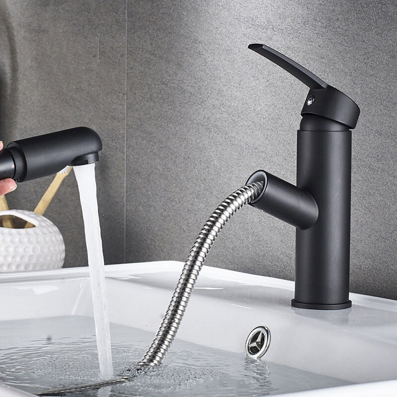 Tuqiu Basin Faucet Modern Black Bathroom Mixer Tap Brushed Gold/Nickel/Chrome Wash basin Faucet Hot and Cold Sink Faucet New
