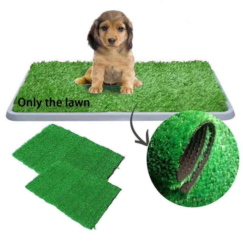 Dog Pet Potty Training Pee Pad Mat Puppy Tray Grass Toilet Simulation Lawn For Indoor Potty Training Pet Supply Litter Boxes Aliexpress For those of you who are worried about exposing your pets to artificial turf puppy pads, look no further. dog pet potty training pee pad mat puppy tray grass toilet simulation lawn for indoor potty training pet supply