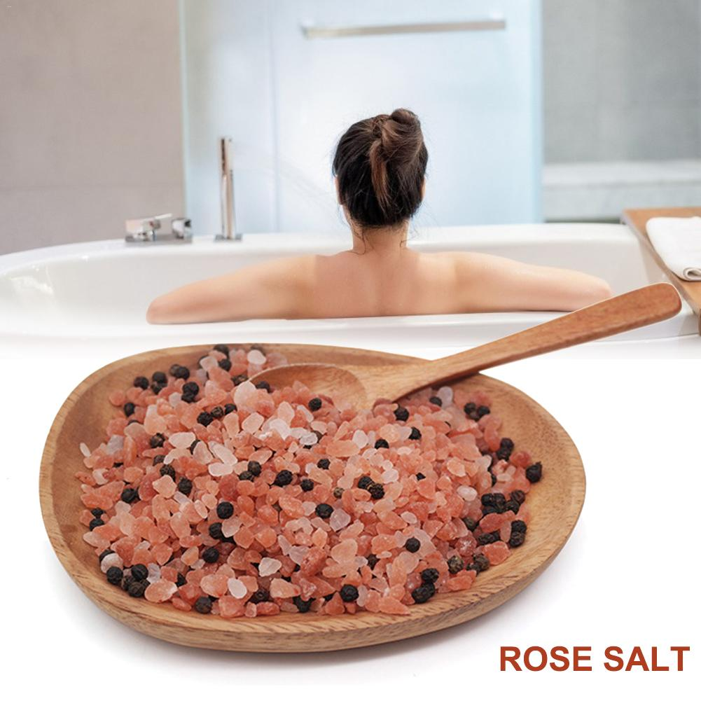 Himalayan Crystal Rose Salt Bath Cleaning Salt For Men And Women Natural Extract For Scars Acne Itchy Dry Skin Red Rose Salt