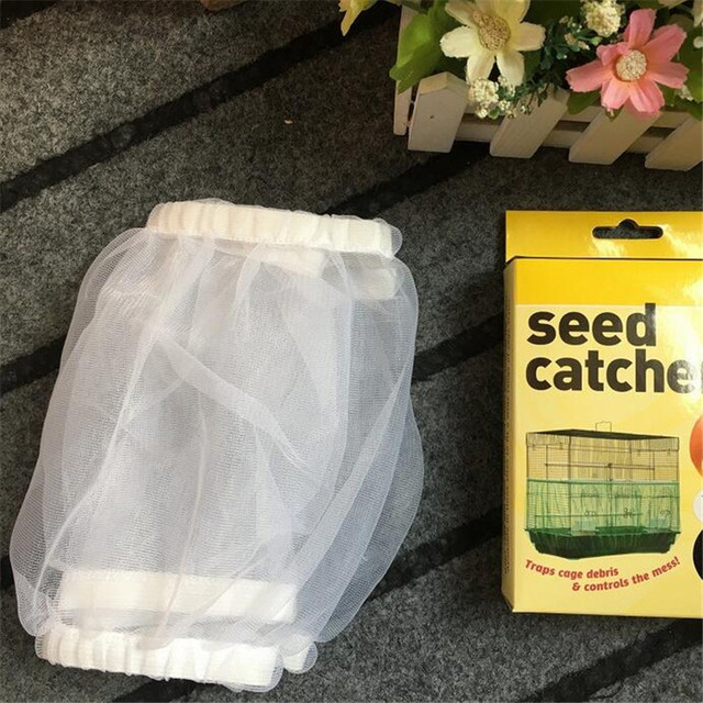 Free Shipping Cage Net New Bird Cage Covers Mesh Catcher Guard Bird Cage Net Shell Skirt Dust-proof Airy Mesh Parrot Cage Cover 5