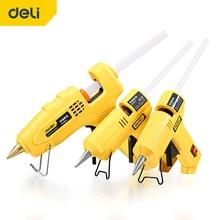 DELI Hot Melt Glue Gun With Glue Stick 7mm 11mm  Industrial Mini High Viscosity Glue Gun Set Repair Tool DIY Temperature Tool