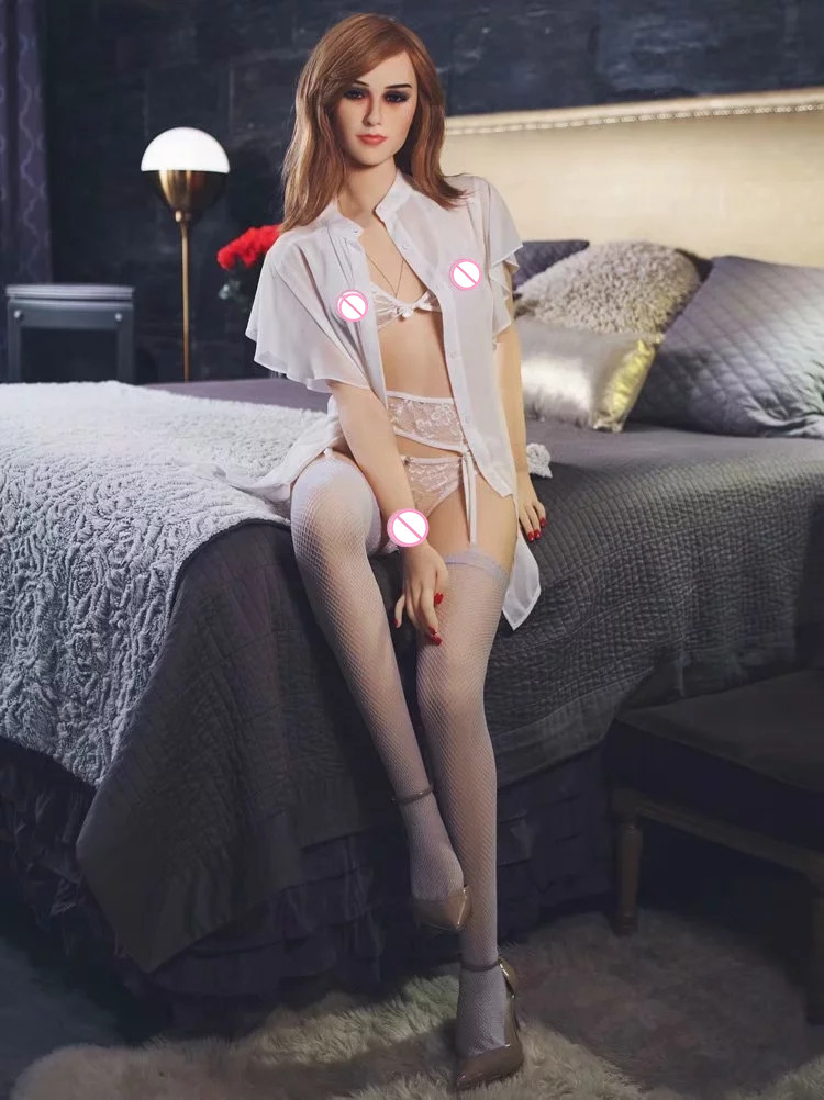 160cm Freckles Style Sex Doll  Blonde Beautiful Sexy Woman Sex Robot Full TPE With Metal Skeleton Love Doll Men's Sex Toy