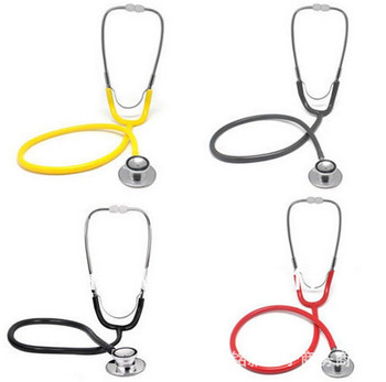 hospital Medical stethoscope children's game role-playing for emergency products equipped with double-sided double-sided multifunctional dual tube double sided professional doctor stethoscope can listen to fetal heart sound accessories package