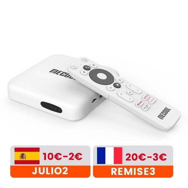 Mecool KM2 netflix 4 18kアンドロイド10.0 tvボックスamlogic S905X2 2ギガバイトDDR4 8ギガバイトspdif wifi hdr 10 widevine L1テレビ受信機vs miボックス