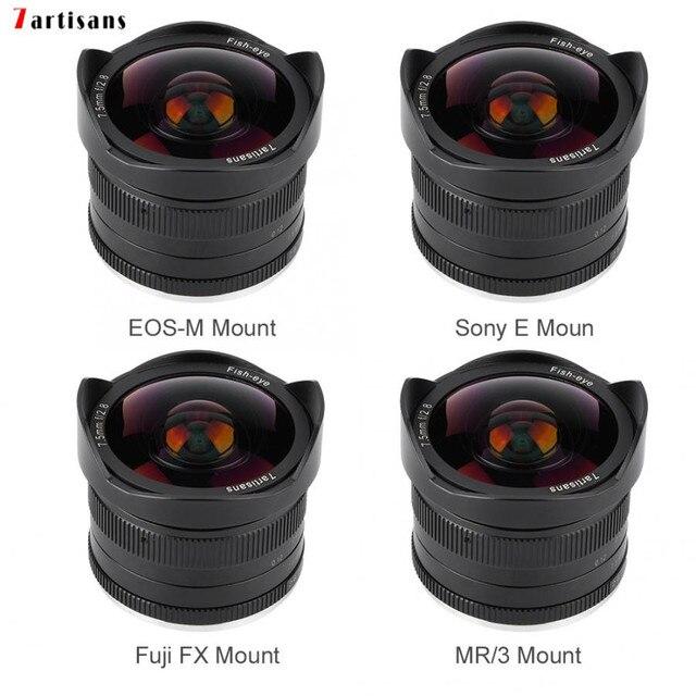 7 ремесленников 7,5 мм f2.8 Объектив рыбий глаз с постоянным фокусным расстоянием f Lens180 APS C ручной фиксированный объектив с фиксированным фокусным расстоянием для Canon EOS M/Fuji FX/ M4/3